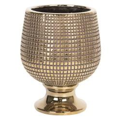 Art Deco doniczka ceramiczna złota na kwiaty