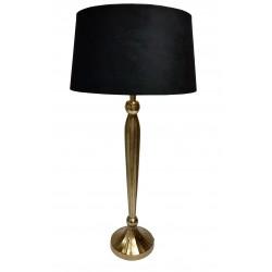 Luksusowa wysoka lampa stołowa Art Deco złoto i marmur