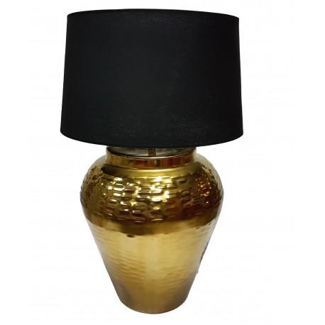 Duża lampa stołowa złota do salonu na stolik boczny Art Deco