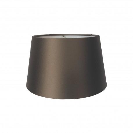 Jedwabny,brązowy abażur Ø 25 lampa stojąca