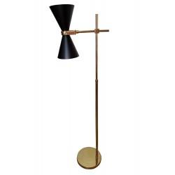 Luksusowa modna złota lampa podłogowa