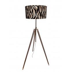 Luksusowa niklowana lampa podłogowa trójnóg