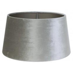 Welurowy abażur do lampy podłogowej Ø 40 srebrny cylinder