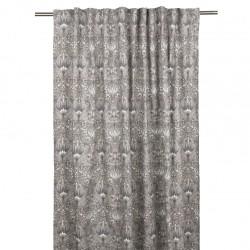 Zasłona bawełniana w kwiaty gotowa na taśmie do salonu 145x245