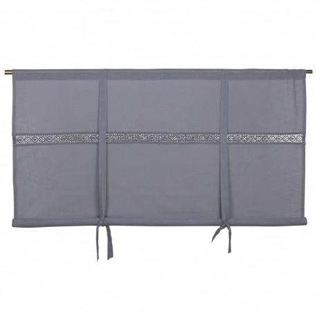 Elegancka bawełniana szara roleta 160 x90 do sypialni