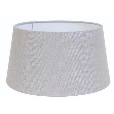 Szaro srebrny abażur cylindryczny Ø 30 lampa stołowa