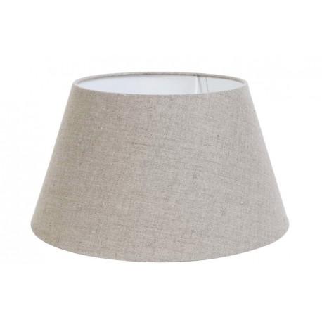 Beżowo szary abażur lampa stołowa len Ø 35