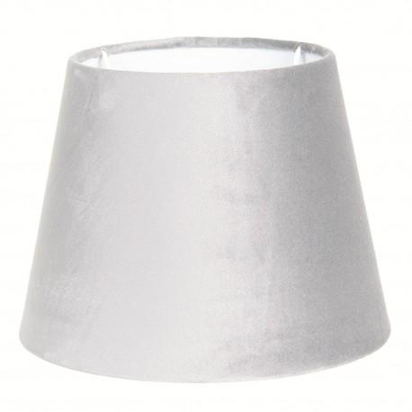 Welurowy abażur glamour do lampy stołowej Ø 25 jasny popiel