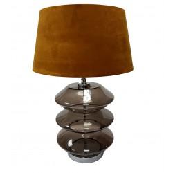 Szklana nowoczesna lampa stołowa do salonu