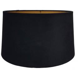 Czarny welurowy abazur do lampy stołowej Art Deco