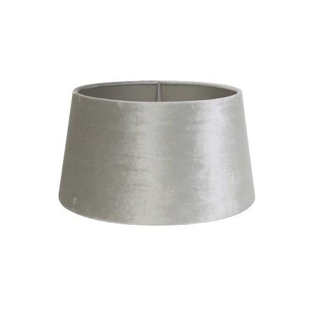 Aksamitny abażur na kinkiet szaro-srebrny Ø 20