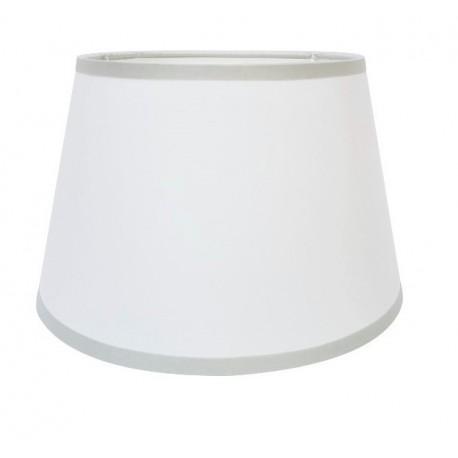 Biały abażur Ø 20 kinkietowy z szarą lamówka