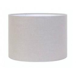 Szaro srebrny abażur Ø 25 cylinder lampa stołowa