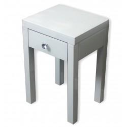 Biały szklany stolik nocny Glamour New York