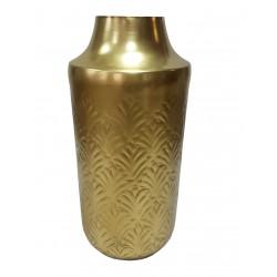 Art Deco złoty wazon z aluminium h23