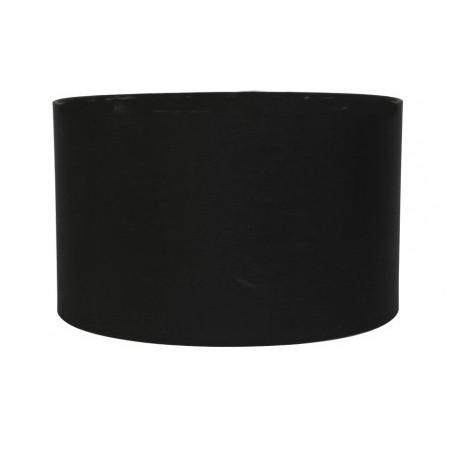 Biały saStynowy czarny abażur cylinder 40 lampa podłogowa/stołowa