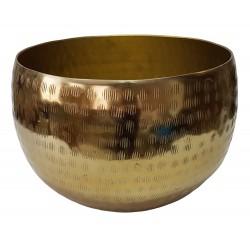 Duża złota osłonka na doniczkę