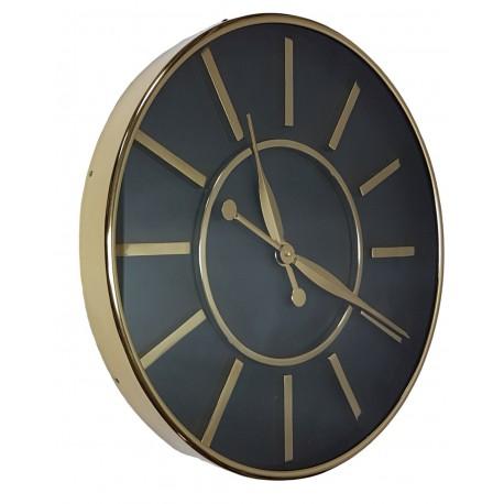 Duży złoty zegar 50cm do salonu jadalni na korytarz w klimacie Art Deco