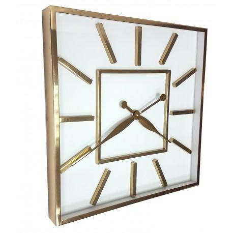 Elegancki duży zegar ścienny srebrny
