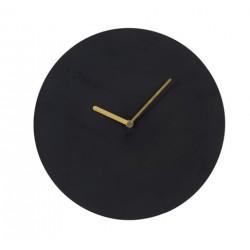 Zegar ścienny czarny złote wskazówki