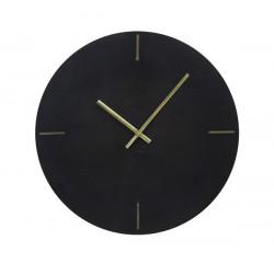 Zegar ścienny duży złoty -czarny