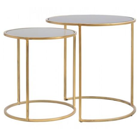 Dawa złote stoliki kawowe szklane