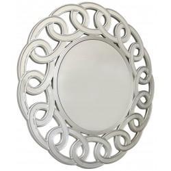 Duże okrągłe lustro glamour 100cm w lustrzanej ramie