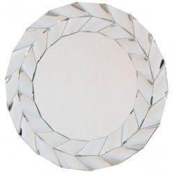 Okrągłe lustro w ozdobnej ramie glamour