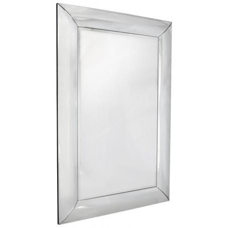 Lustro prostokątne dekoracyjne rama lustrzana wypukła 120x80