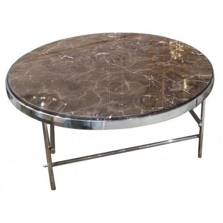 Stół kawowy okrągły marmurowy 100x40