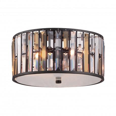 Elegancki plafon kryształowy do sypialni glamour