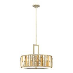 Art Deco Ø54 kryształowa lampa wisząca do salonu