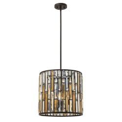 Kryształowa lampa wisząca do salonu glamour Ø40