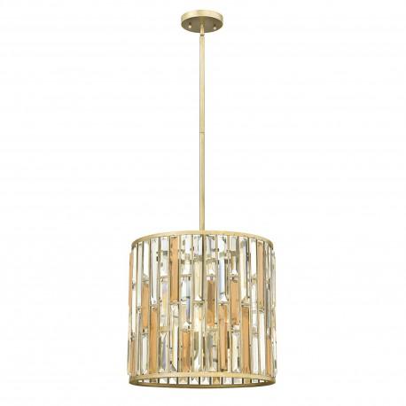 Kryształowa lampa wisząca do salonu Art Deco Ø40