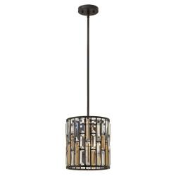 Kryształowa lampa wisząca do salonu glamour Ø26
