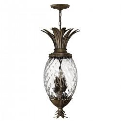 Złota lampa wisząca szklana na klatkę schodową Art Deco Boho
