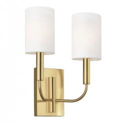 Elegancki podwójny nowoczesny kinkiet złoty mosiądz