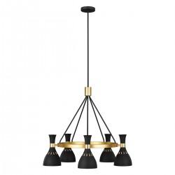 Luksusowy nowoczesny żyrandol czarno złoty