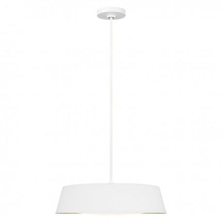 Nowoczesna biała lampa nad stół ze złotym środkiem