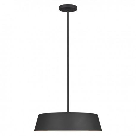 Nowoczesna czarna lampa nad stół ze złotym środkiem