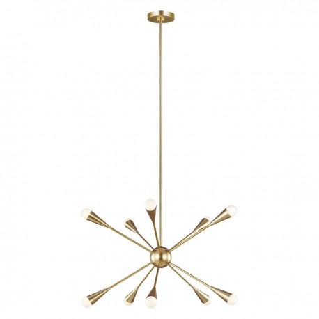Złoty żyrandol nowoczesny sputnik