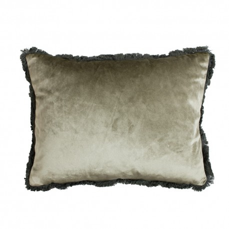 Modna i elegancka aksamitna poduszka 45x35 na sofę Grey Green