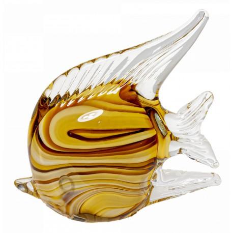 Szklana ryba luksusowa dekoracja Boho