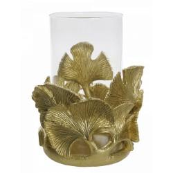 Złoty lampion Boho h 22