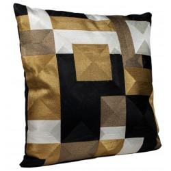 Luksusowa poduszka35x60 czrno złota w stylu Art Deco do salonu sypialni
