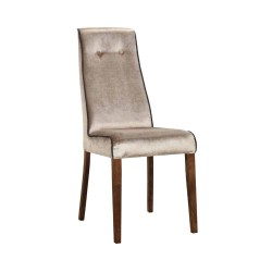 Eleganckie krzesło tapicerowane welurowe