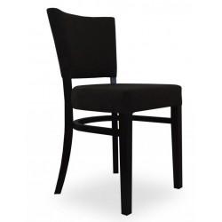 Eleganckie czrne klasyczne krzesło tapicerowane Modern Classic