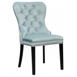 Eleganckie welurowe krzesło tapicerowane Hampton