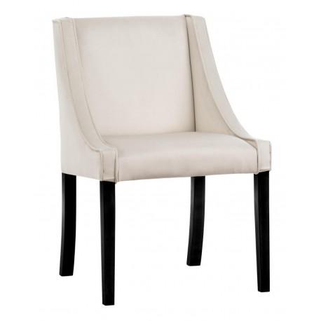 Klasyczne eleganckie tapicerowane eleganckie krzesło do salonu lub jadalni New York