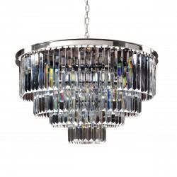 Luksusowy srebrny kryształowy żyrandol Ø 81 do salonu glamour